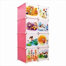 Tupper Cabinet 8 Cubes Pink Color DIY Cartoon Storage