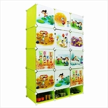 Tupper Cabinet 12 Cubes DIY Fruit Green Cartoon Cabinet
