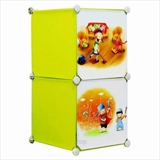 Tupper Cabinet 2 Cubes Fruit Green DIY Cartoon Storage