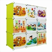 Tupper Cabinet 9 Cubes DIY Fruit Green Cartoon Cabinet