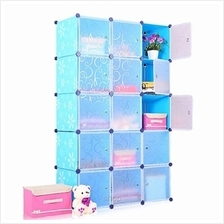 Tupper Cabinet DIY Storage Cabinet 15 Cubes Blue Flower)