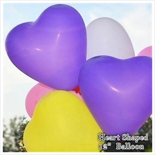 12-inches Heart Shaped Quality Latex Balloons Wedding Valentines 12ct