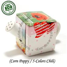Gift Set - 5 Color Chilies/Corn Poppy-Childhood Farming Pot Plant Kit