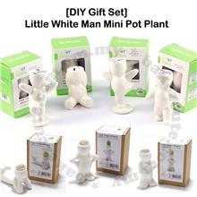 DIY Gift Set - Ecoey Ceramic Little White Man Mini Desktop Plant