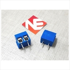 2pcs Blue Terminal Block - 2 Pole Ways PCB Mount Screw
