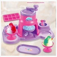 Kids Ice Crusher Toys Play House Children Kitchen Simulation Toy Ice C