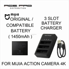 XIAOMI Battery 1450mAh & KingMa Charger for Mijia Action Camera 4K