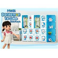 16 CUBE WARDROBE DORAEMON WITH CORNER RACK