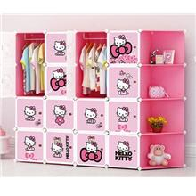 16 CUBE WARDROBE KITTY WITH CORNER RACK