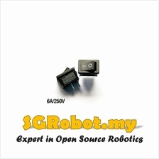 KCD1-101 Rocker Switch Black 6A / 250V