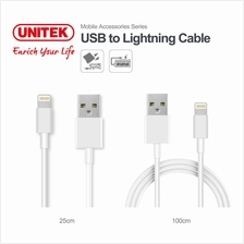 Unitek C4015BWH 2-In-1 Pack Lightning Cable (25cm + 100cm)