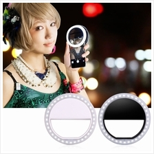 Portable Selfie LED Phone Ring Flash Fill Light Clip Camera For iPhone
