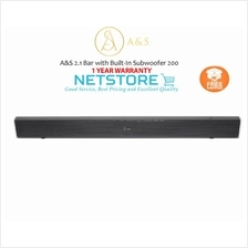 A&S 2.1 Bluetooth Sound Bar with Built-In Subwoofer 200 -