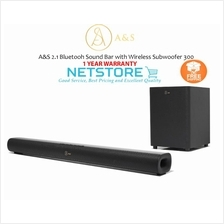 A&S 2.1 Bluetooh Sound Bar with Wireless Subwoofer 300