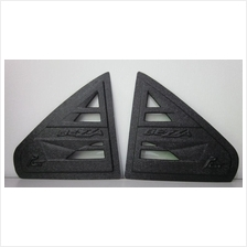 Perodua Bezza Triangle Window Rear Cover 3D Carbon