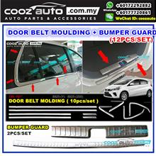 Perodua Myvi 2018 12pcs Window Trim Chrome Lining Door Belt Moulding B