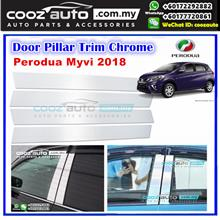 Perodua Myvi 2018 Chrome Door Window Pillar Trim Cover
