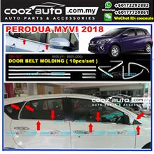 Perodua Myvi 2018 10pcs/set Window Trim Chrome Lining / Door Belt Moul