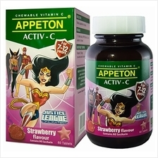 Appeton Activ-C (Strawberry) Tablets 60's (For 7-12 Years Old) - 10%