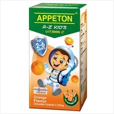 Appeton A-Z Vitamin-C (Orange) Tablets 100's (For 2-6 years old) - 25%