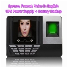 F180 Face Recognition  & Fingerprint Time Attendance Machine
