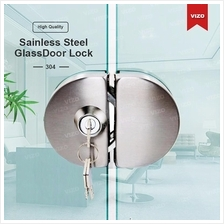Glass Door Lock Stainless Steel10- 12mm Double Swing Hinged Frameless