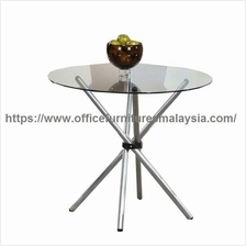 Tempered Glass Top Dining Table With Chrome YGCDT8479T Klang valley