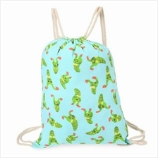 CUTE RETRO CANVAS DRAWSTRING BACKPACK 3D PRINTING GYM BEACH BAG SCHOOL