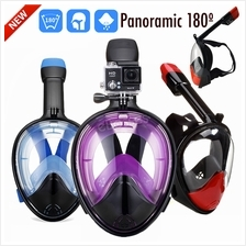 Panoramic 180\u00ba View Full Face Snorkel Mask with Anti Fog Technolo