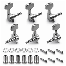 CHROME GUITAR STRING TUNING PEGS TUNERS 6 PCS (SILVER)