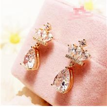 42836478073	Zircon Crown Droplet Pendant Earrings