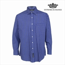 EXTREMA BIG SIZE Checked Shirt EXP9303 (Blue)