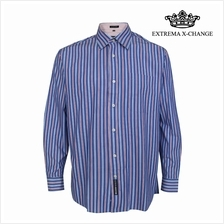 EXTREMA BIG SIZE Stripe Shirt EXP9304 (Red Blue)