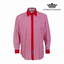 EXTREMA BIG SIZE Stripe Shirt EXP9307 (Red)