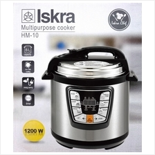 (ISKRA) Electric Pressure Multi Purpose Cooker Timer Rice Cooker 6L