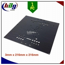 Universal Build Plate Aluminium 6063-T6 Black Oxide For 3D Printer/CNC