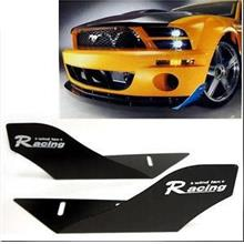 CAR RACING WIND FAN ALUMINUM BUMPER SPLITTER SPOILER WING X 2 PIECES
