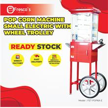 Pop Corn Machine Small Electric With Wheel Trolley