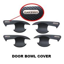 Mitsubishi Triton 2015 ABS Inner Door Handle Cover Carbon