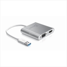 J5 Create USB 3.0 to Dual VGA HDMI Multi Monitor Adapter (JUA360)