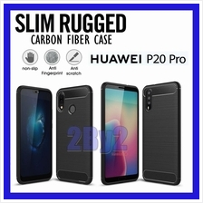 Slim Rugged Armor Carbon Fiber design Huawei P20 Pro case cover