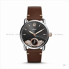 FOSSIL ME1165 Men's The Commuter Twist Small-Second Leather Brown