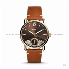 FOSSIL ME1166 Men's The Commuter Twist Small-Second Leather Strap Tan