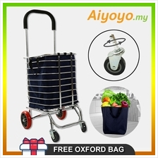 Multi Functional Folding Foldable Shopping Grocery Trolley Cart Oxford