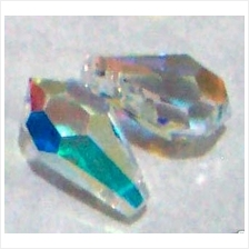 11mm Swarovski Crystal 6000 Teardrop 4pcs Crystal AB