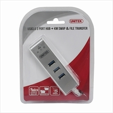 UNITEK WITH KM SWAP  & FILE TRANSFER 3 PORTS USB HUB 3.0 (Y-3076)