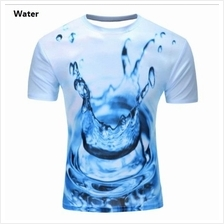 3D t-shirts Men Man Boy Guy Water Clothing Baju air sea laut tops tees