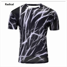3D t-shirts Men Man Boy Guy Clothing Baju white black tops tees solid