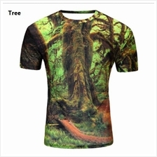 3D t-shirt Men Man Boy Guy Tree Clothing Baju POKOK tops tees