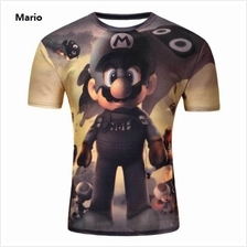 3D t-shirts Men Man Boy Guy Mario Clothing Baju tops tees